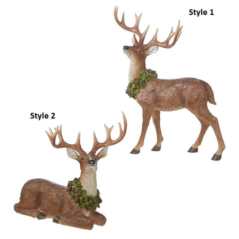 Deer with Wreath