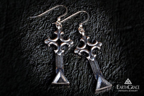Gable Cross Earrings