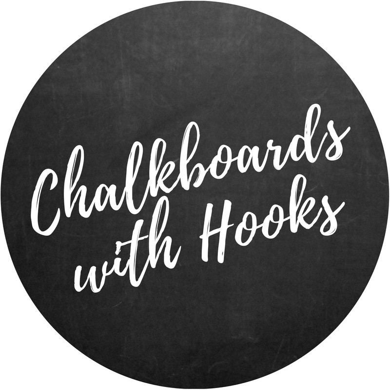 Chalkboards with Hooks