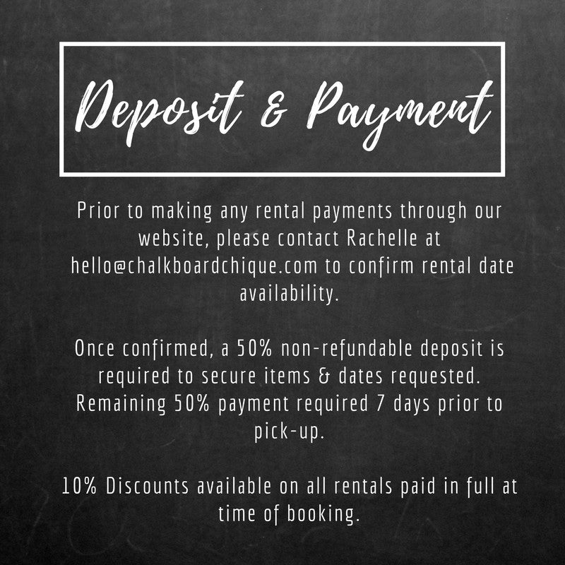 Deposit and Payment