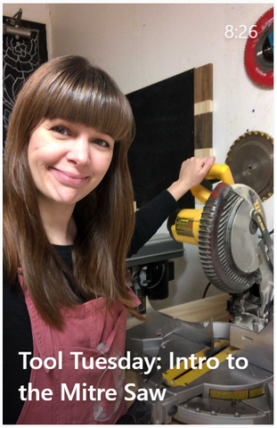 Project Pine Designs Introduction to the Mitre Saw on Instagram