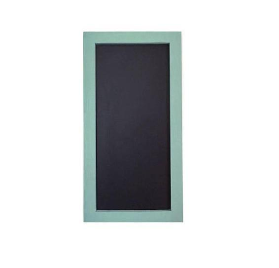 Rectangular Chalkboard With Seafoam Stained Pine Frame 12 X 24
