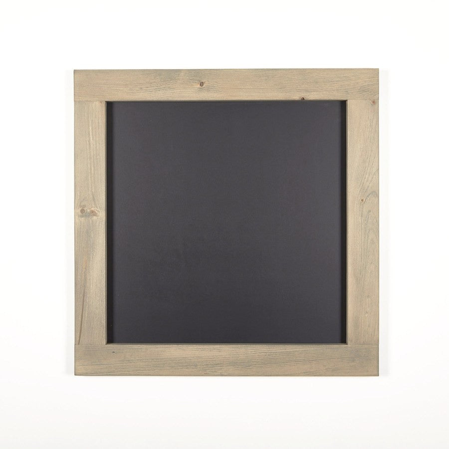 Square Chalkboard with Grey Stained Pine Frame: 24\