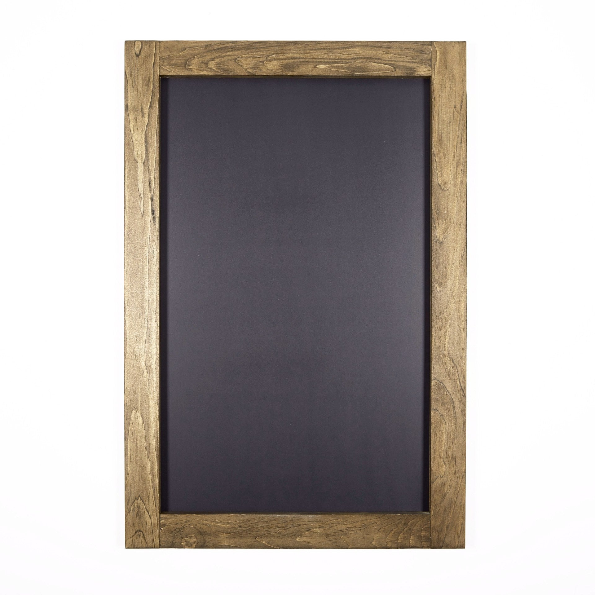 large chalkboard with walnut stained pine frame 24 x 36 wall