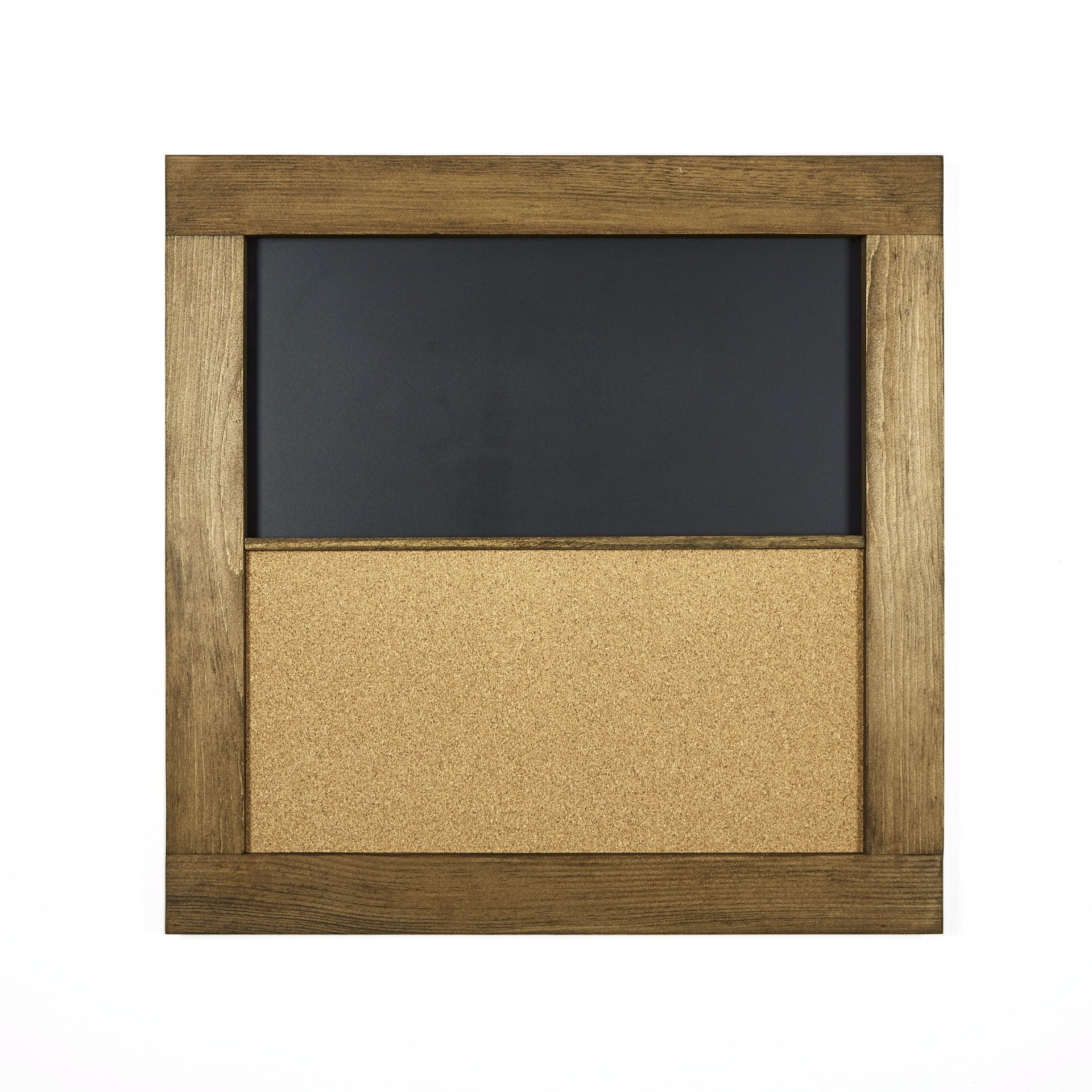 Square Chalkboard Corkboard with Pine Frame: 24\
