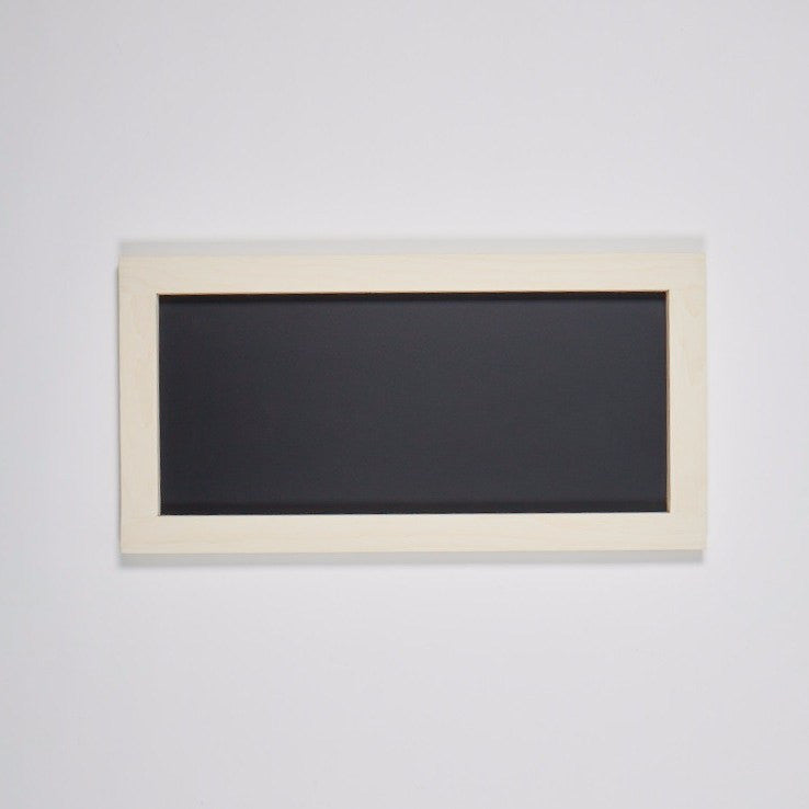 rectangular chalkboard with white wash stained pine frame 12 x 24