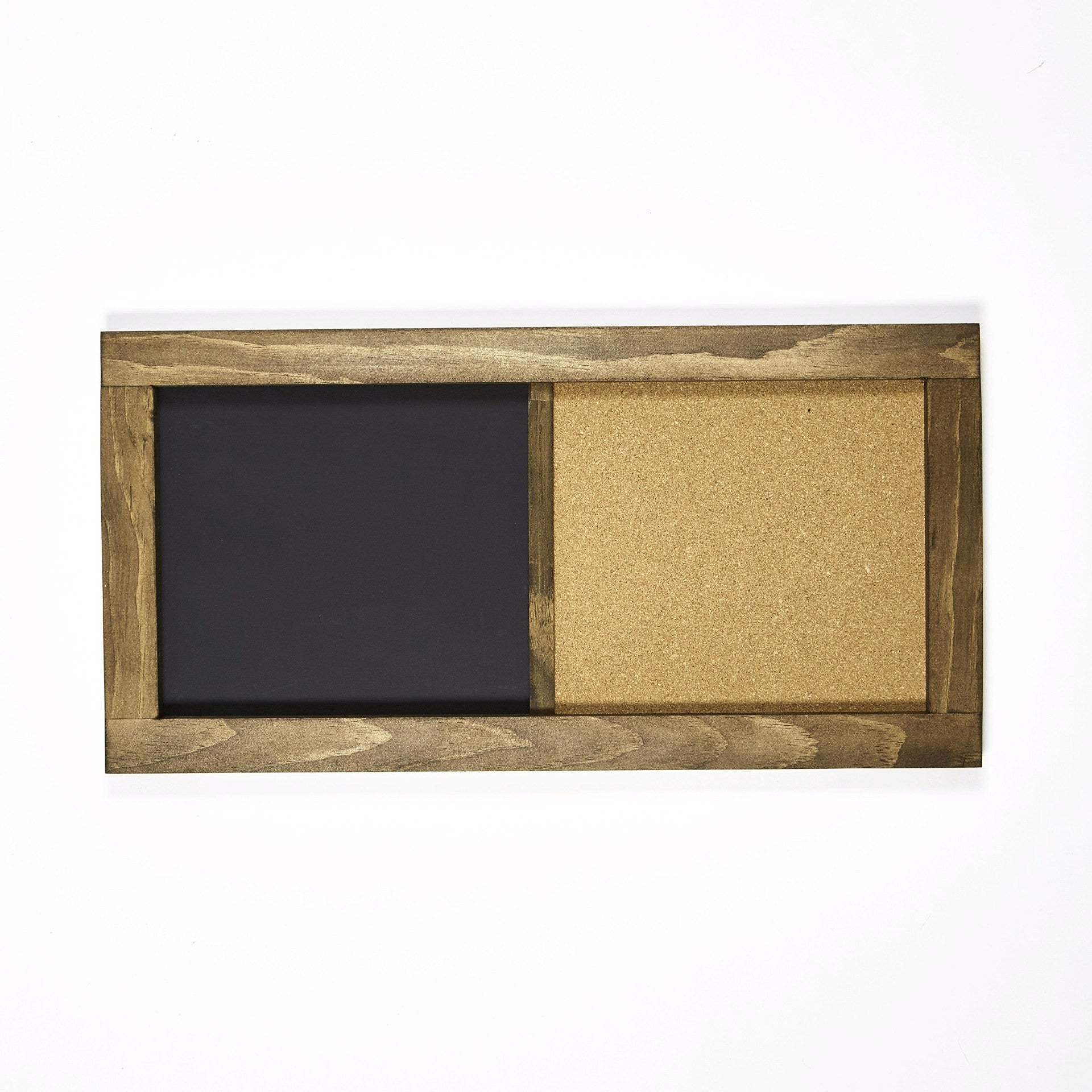 rectangular chalkboard corkboard with pine frame 12 x 24 in walnut chalkboard chique. Black Bedroom Furniture Sets. Home Design Ideas