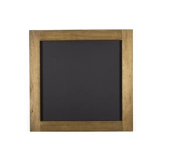 Square Chalkboard With Walnut Stained Pine Frame 24 X 24 Wall