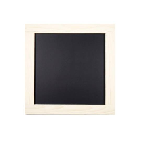 Square Chalkboard with White Wash Stained Pine Frame: 24\