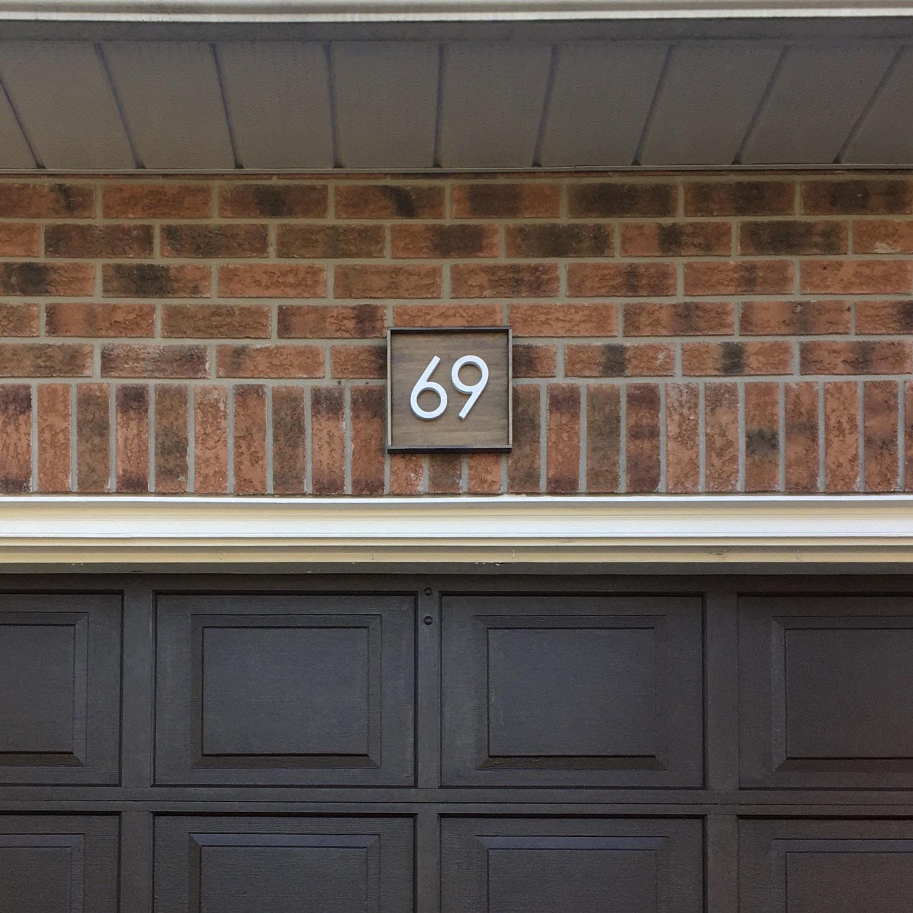 Address Sign with 2 Numbers Address Sign Project Pine Designs Walnut Horizontal