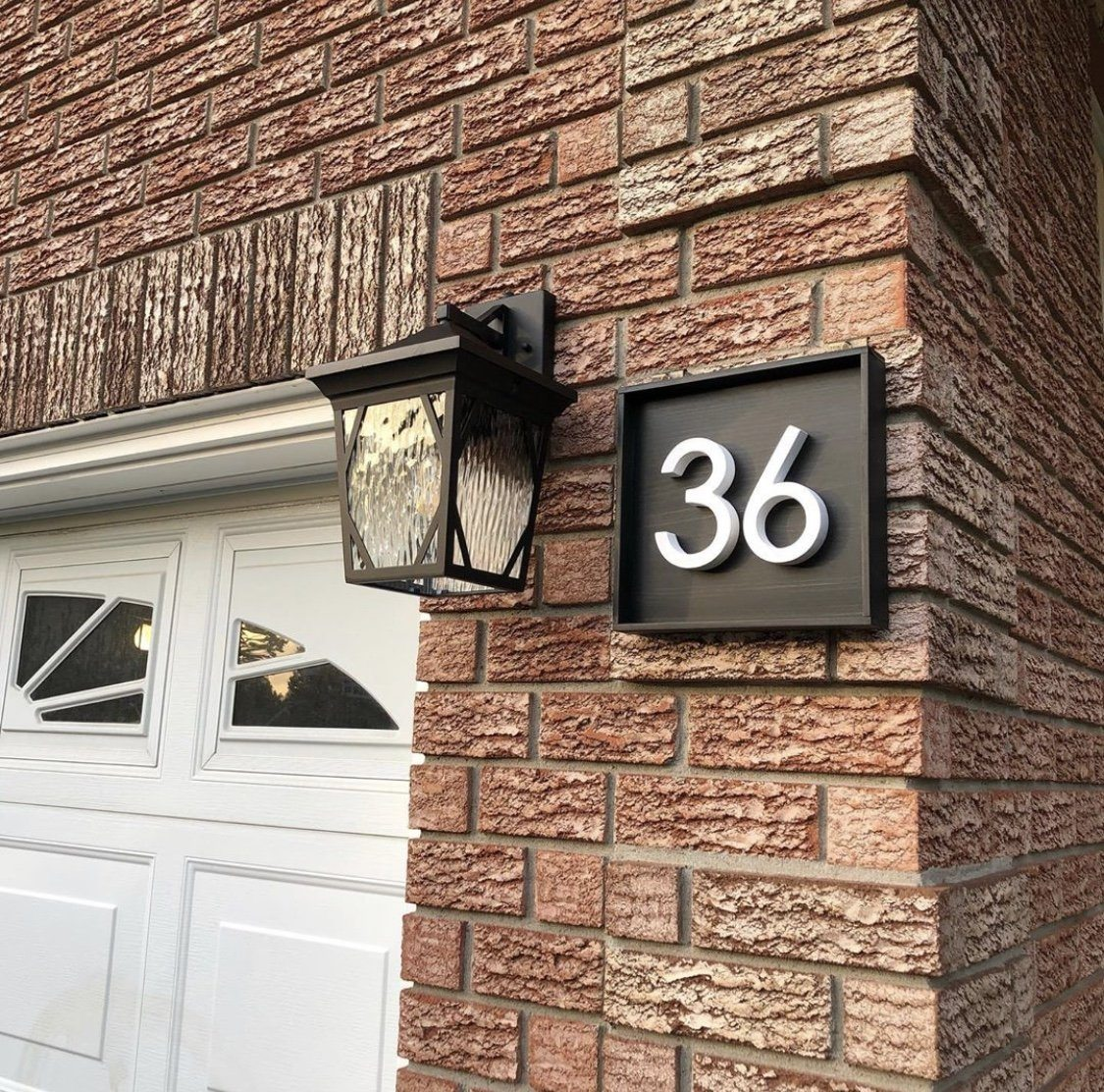 Address Sign with 2 Numbers Address Sign Project Pine Designs Ebony Horizontal