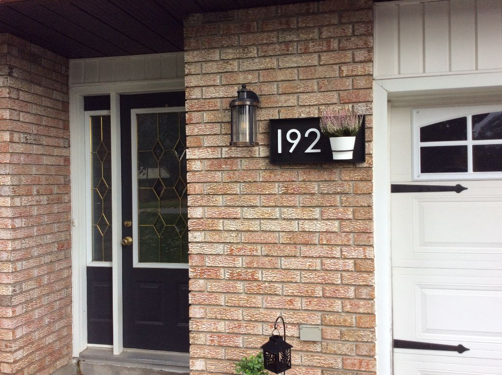 Address Sign with 3 Numbers & Garden Pot Ring Address Sign Project Pine Designs
