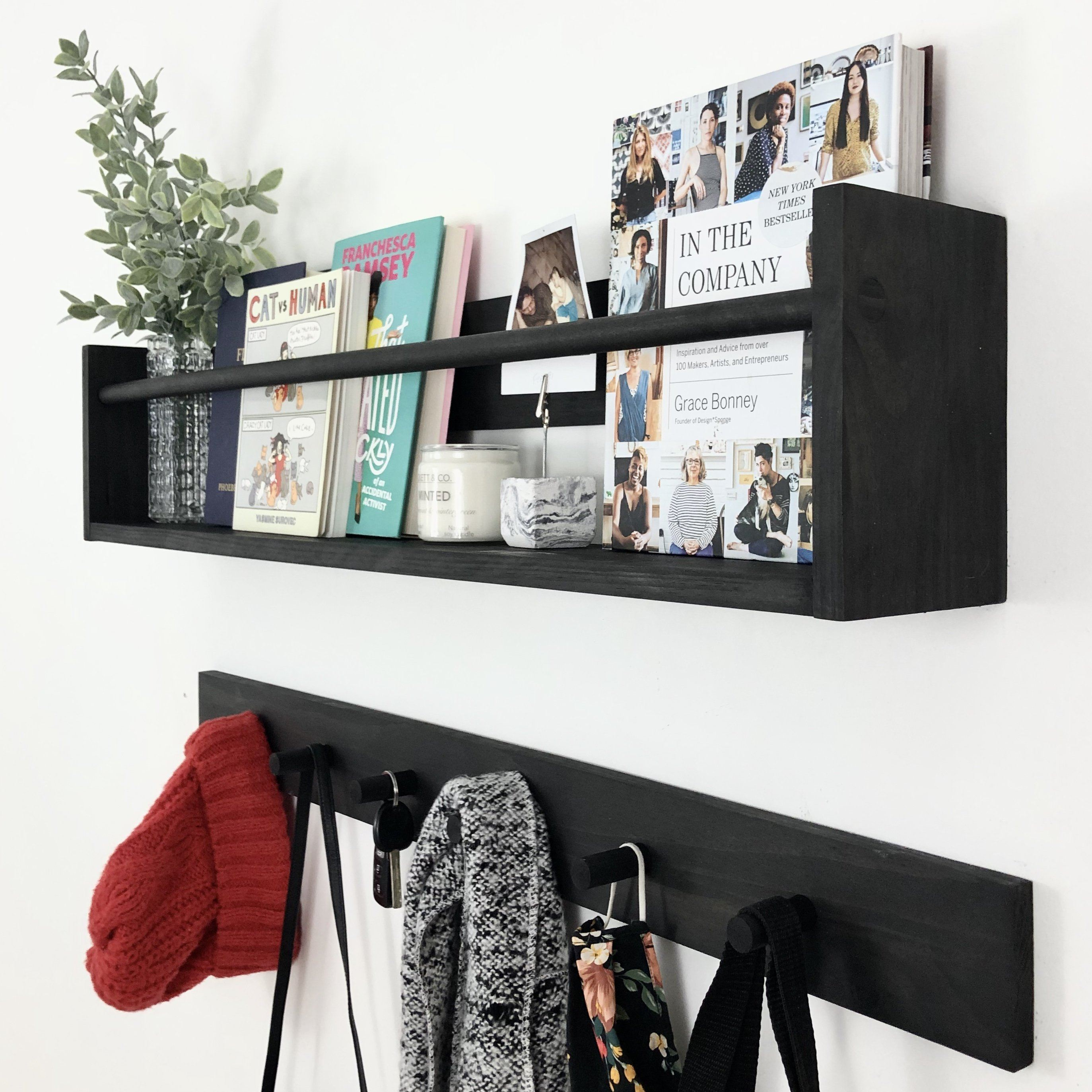 "Ebony Shelf & Rack: 36"" Project Pine Designs"
