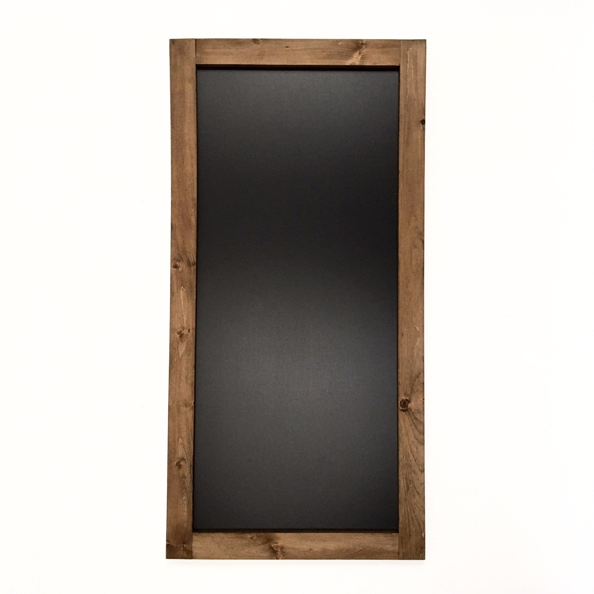 Extra Large Chalkboard With Walnut Stained Pine Frame 24 X 48