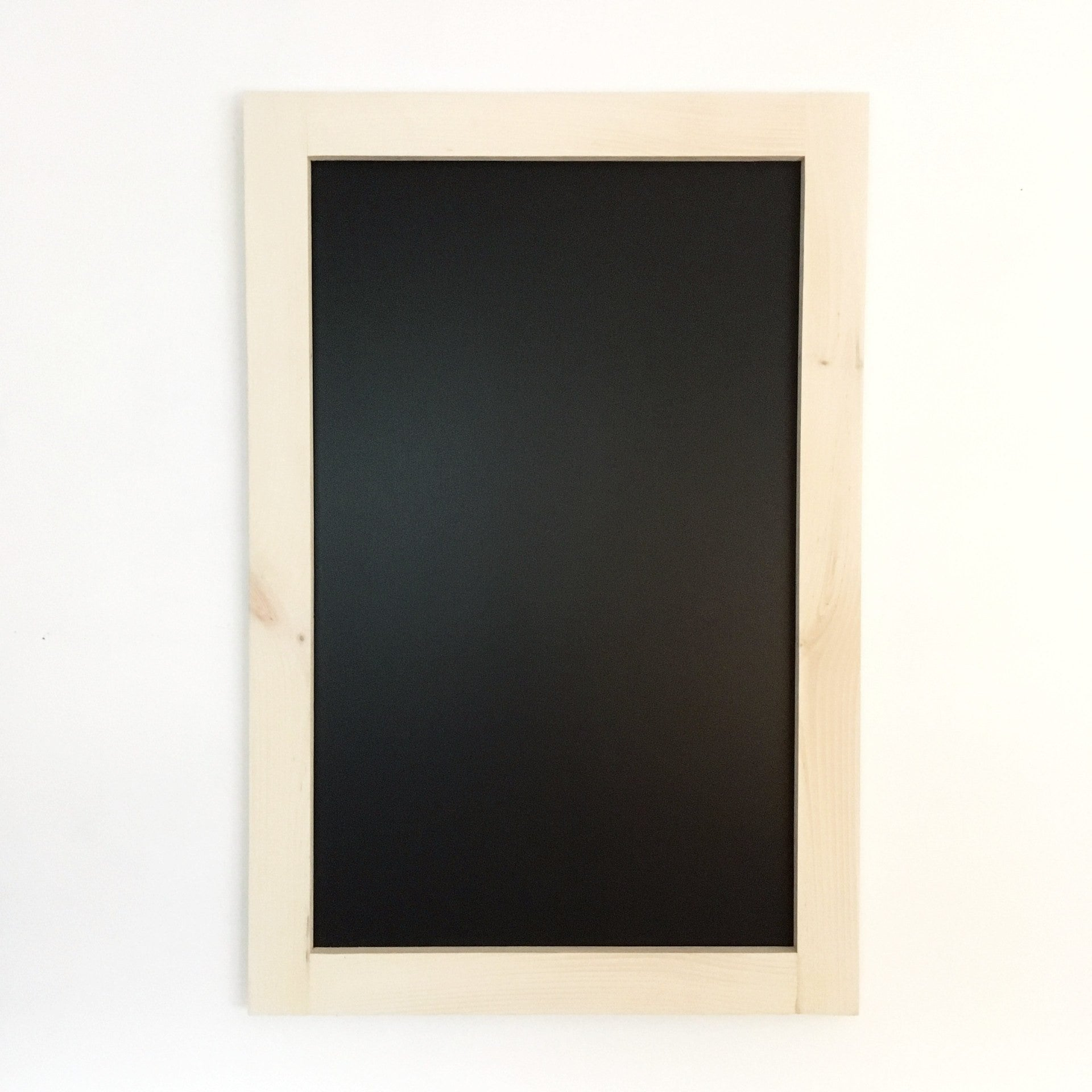 Large Chalkboard With White Wash Stained Pine Frame 24