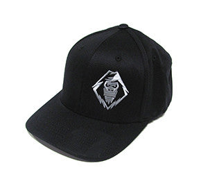Yeti Cap, Gray On Black, Flexfit  - YETI SnowMX Online Store - 1