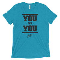"""You vs You"" Tri-blend (Black)"