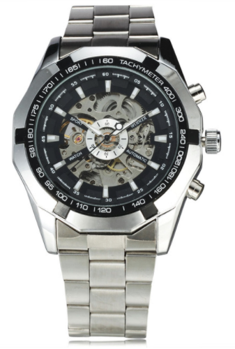 Mens Top Luxury Brand Skeleton Watch