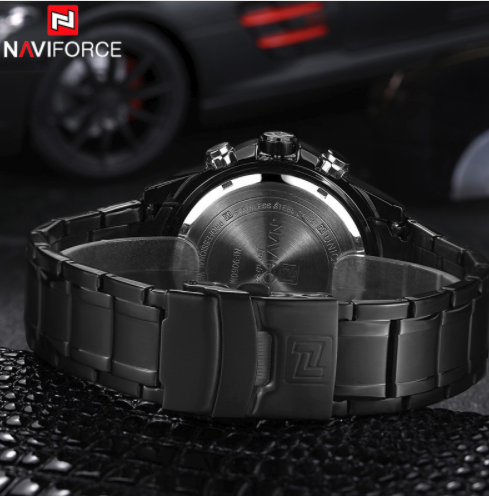 NAVIFORCE 9024 Luxury Brand Stainless Steel Military Sports Watch