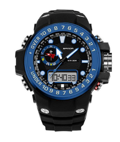 S8 Men's Outdoor Waterproof LED Digital Quartz Sports Watch