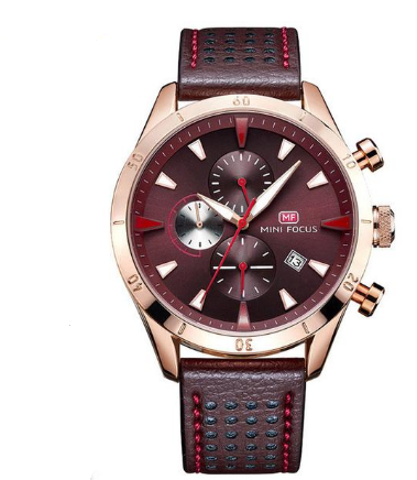 M 312 Timer Multi-Function Chronograph Genuine Leather Water Resistant Men's Sport's Watch