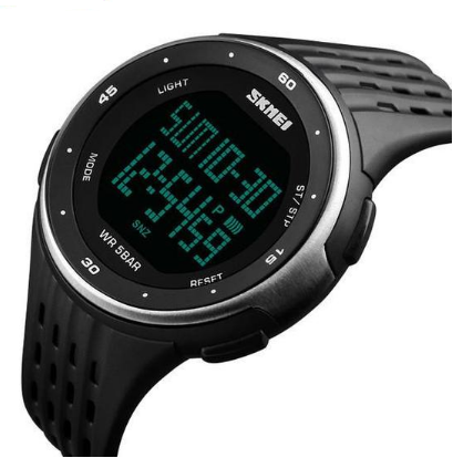 Q2 Men's Stopwatch Waterproof LED Digital Military Sports Watch