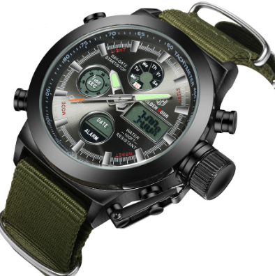Military Rugged Style Sports Casual LED Digital Watch