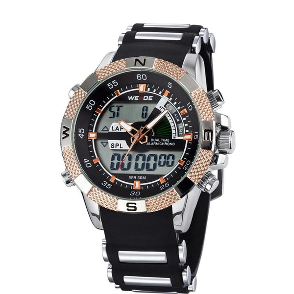 W-1 Men's Waterproof Multifunction Sports Military Watch