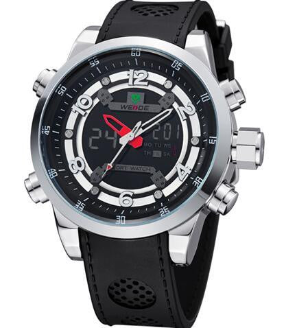 W-2  Men's Dual Display Multi-Function Sports Watch