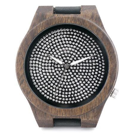 Brilliant Dots Luxury Wooden Analog Watch