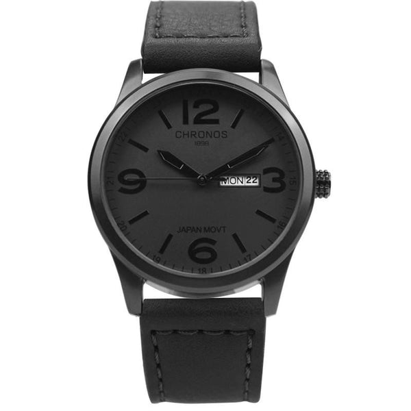 C-1898 Men's Analog Casual Watch with Leather Band