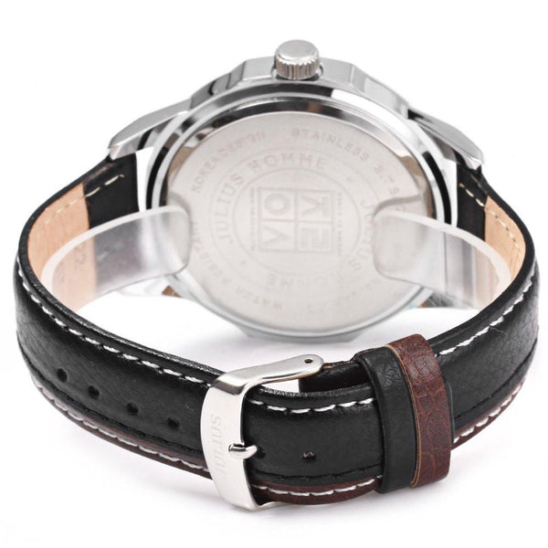 J 512 Complete Calendar Genuine Leather Strap Quartz Men's Wrist Watch