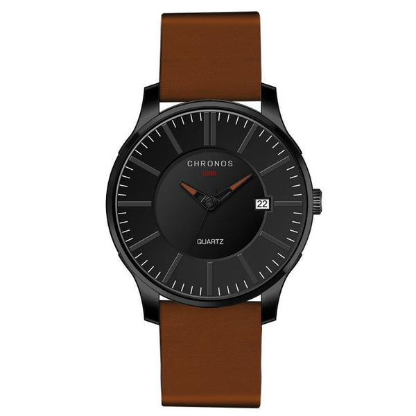 CHRONOS Nordic Series 1 Men Casual Quartz Watch with Genuine Leather Band