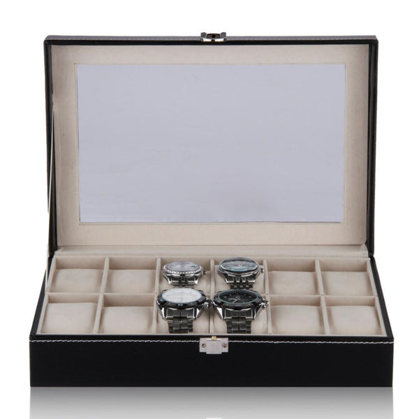12 Watch Display Organizer Case