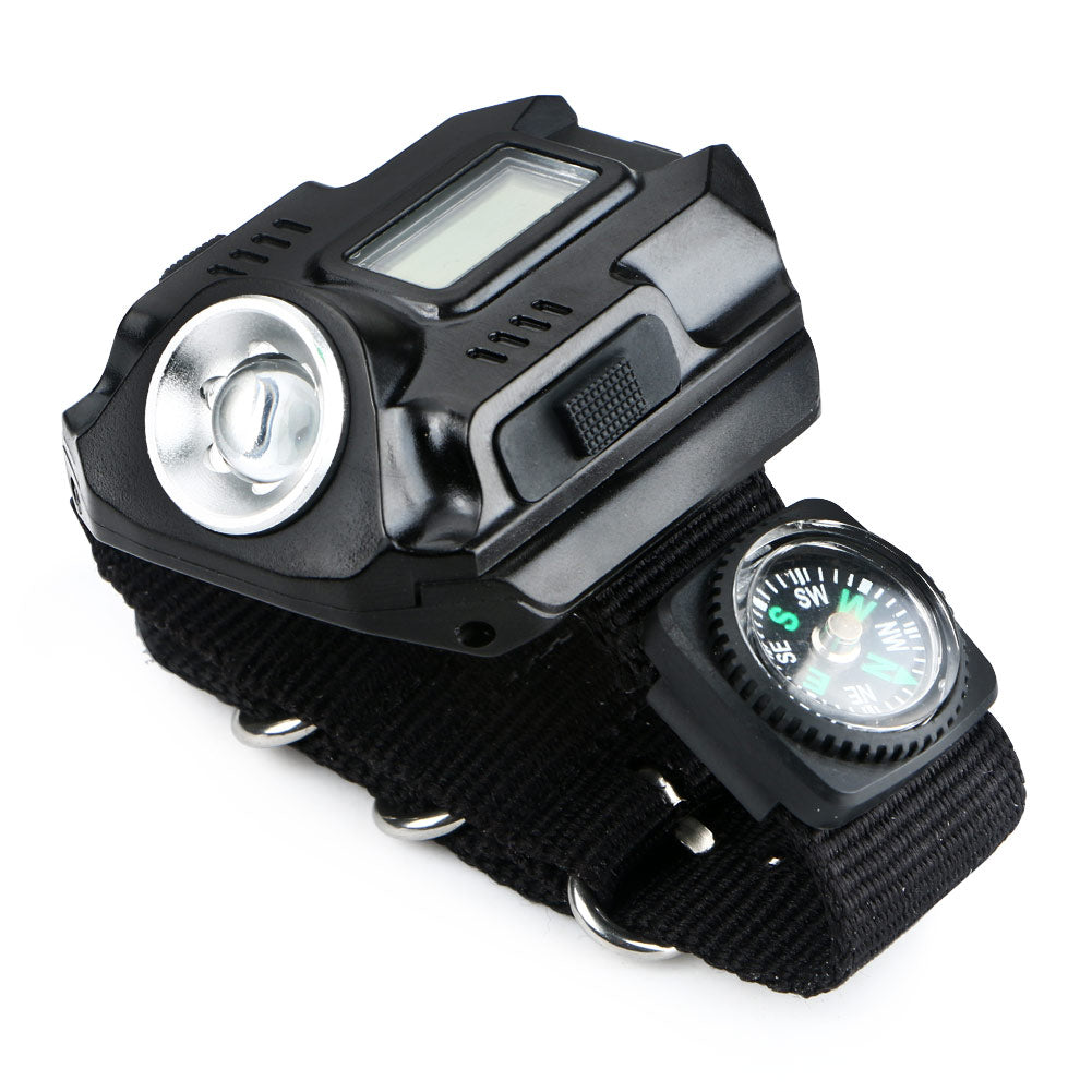 Portable XPE Q5 Rechargeable Wrist Watch Tactical Flashlight