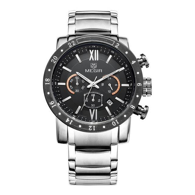 Y11 -  Luxury Stainless Steel Military Chronograph Men's Wrist Watch