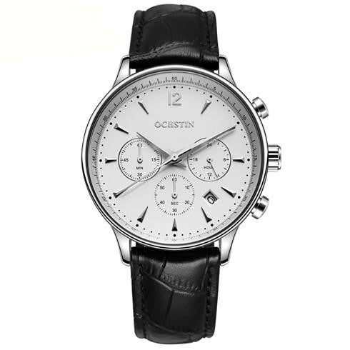 O-707 Men's Luxury Business Watch with Leather Strap