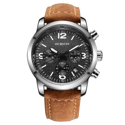 O-202 Men's Luxury Business Watch with Leather Strap