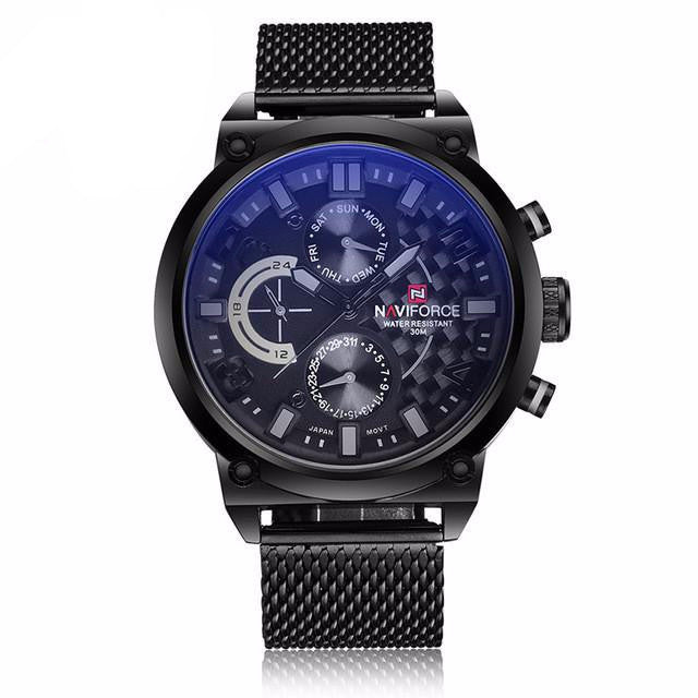 N-118 Luxury Stainless Steel Quartz Chronograph Sports Men's Watch