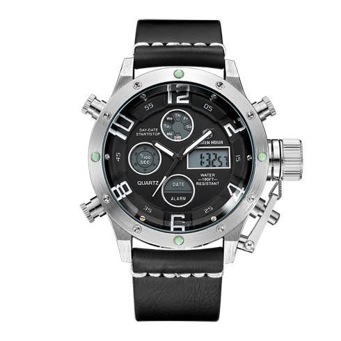 G6 Dual Display Rugged Men's LED Quartz Watch