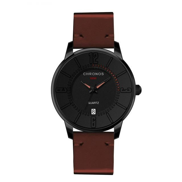 CHRONOS Nordic Series 2 Men's Analog Quartz Watch with Leather Band