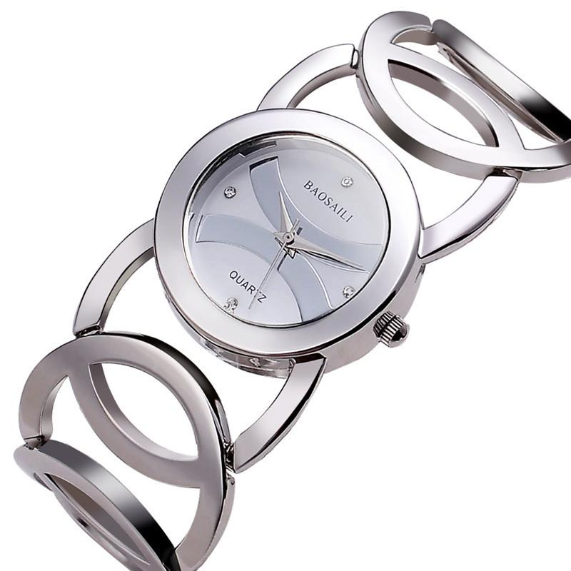 Women's Luxury Crystal Quartz Bracelet Wrist Watch