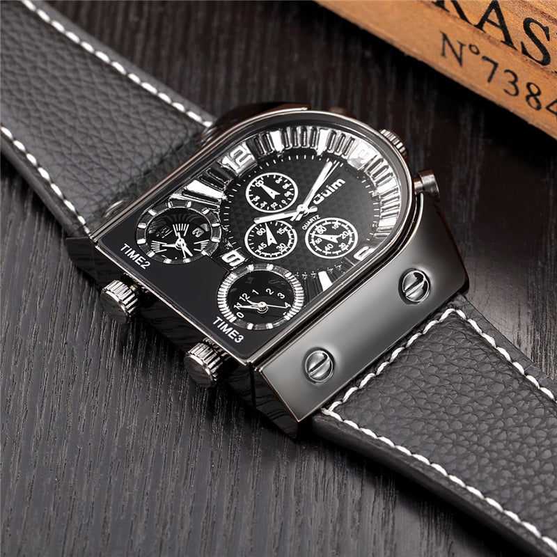 THE FUTURIST Luxury Three Time Zone Wristwatch