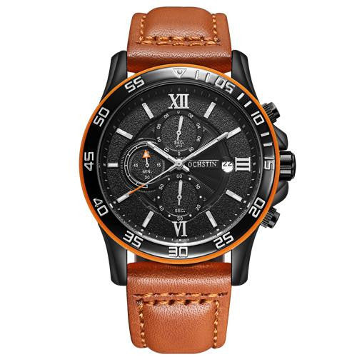 O-101  Men's Luxury Business Watch with Leather Strap