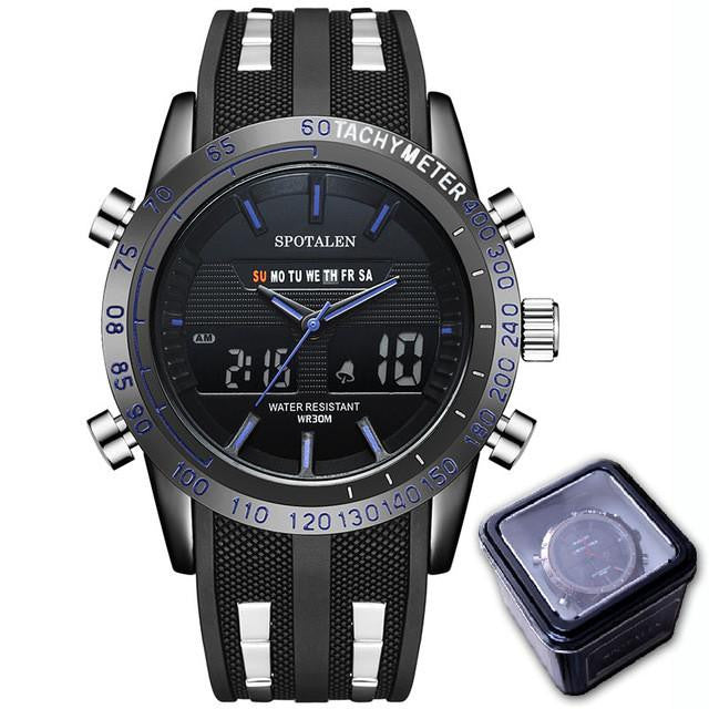 S 315 Men's Electronic LED Dual Display Sports Automatic Sport's Watch