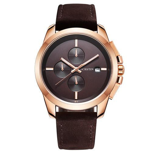 O-647 Men's Luxury Executive Watch with Leather Band