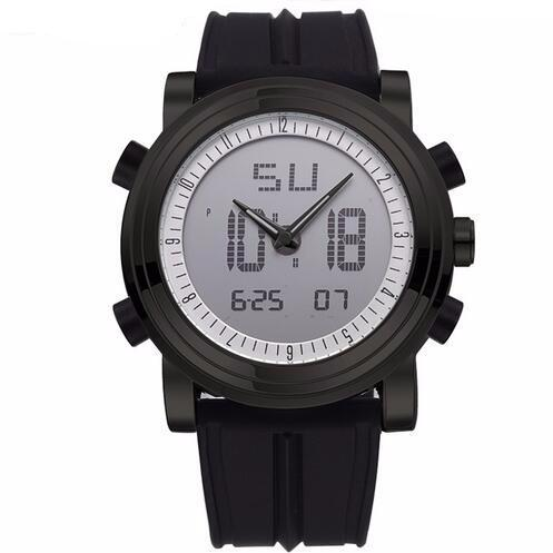 S-9300 Mens Digital Analog Display Sports Watch with Silicone Band