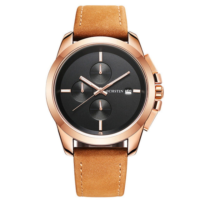 Reloj hombre OCHSTIN Watches Men Top Luxury Brand Design Military Sports  Men's Watches Leather Quartz Wristwatches Men's