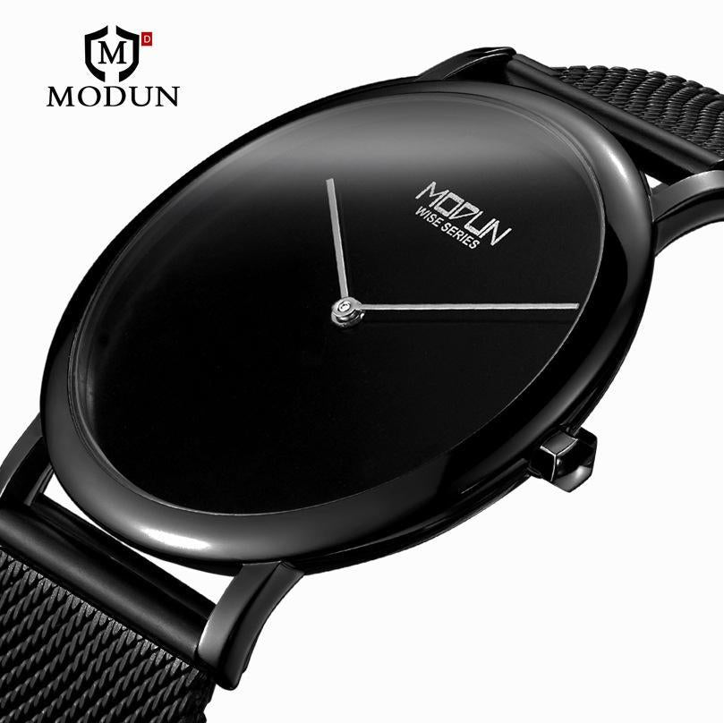 Top Brand Luxury Mesh Strap Watch Business Men Simple Ultra Thin Watch Minimal Stainless Steel Band Male Clock Metal Wristwatch