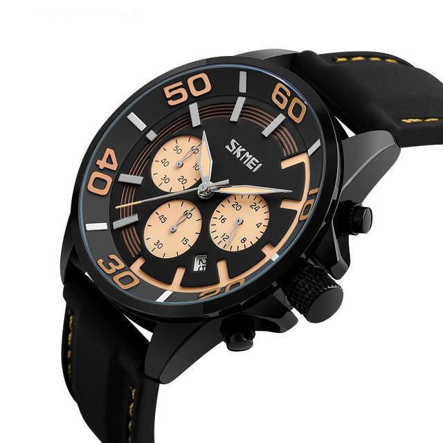 S-905 Men's Chronograph Quartz Analog Watch with Silicone Band